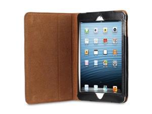Acase iPad Mini Genuine Leather Case / Cover (Apple iPad Mini 7.9 inch Tablet) with Built-in Stand - Supports Smart Cover Function for iPad Mini - Black