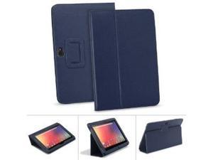 GreatShield TOME Series Flip-Stand Leather Case with Auto Sleep / Wake Feature for Google Nexus 10 inch Tablet - Blue (Ink)