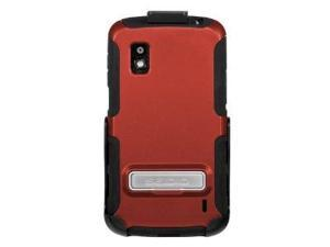Seidio Active Case with Metal Kickstand and Holster Combo for LG Nexus 4 - Retail Packaging - Garnet Red