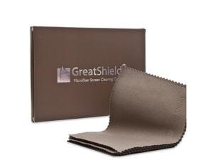 GreatShield Microfiber Screen Cleaning Cloths (10-Pack) For Digitial Video/Camera Lens, Laptops, Smartphones, Tablets, Touch Screen Devices, GPS, Digital Cameras, and More 10 Pack - Brown