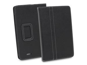 GreatShield TOME Series Slim Fit Leather Case Folio Cover with Stand for Asus MeMO Pad ME172V - Black