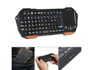 Fosmon Portable Mini Wireless Bluetooth Keyboard Controller with Built-In Touchpad for Tablets, Smartphones & PS3 - Compatible with Samsung Galaxy S4 S IV S3 SIII /  - Black and Orange