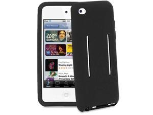 Fosmon Silicone Sport/Gym and Running Armband Case Cover for iPod Touch 4 4G 4th Gen - Black