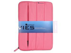 """GreatShield VIES Neoprene Sleeve Case for 9 to 10.6"""" Tablets - Fits Samsung Galaxy Tab 3 10.1, Google Nexus 10, Barnes & Noble NOOK HD+ and More! (Pink)"""