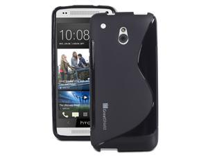 GreatShield GUARDIAN S Series Slm-Fit TPU Case for HTC One mini / HTC M4  - Black