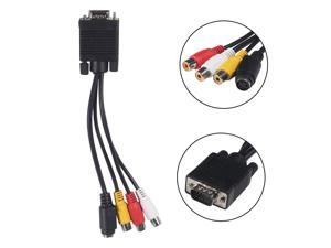 Fosmon VGA Adapter to TV S-Video RCA Out Cable for PC Video