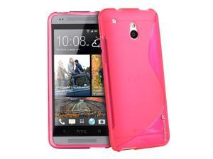 Fosmon DURA S Series Flexible SLIM-Fit TPU Case for HTC One Mini / HTC M4 (Hot Pink)