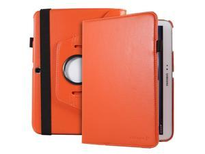 Fosmon GYRE Series Revolving Leather Case with Stylus and Sleep/Wake Function for Samsung Galaxy Tab 3 10.1 Tablet (Orange)