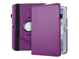 Fosmon GYRE Series Revolving Leather Case with Stylus and Sleep/Wake Function for Samsung Galaxy Tab 3 10.1 Tablet (Purple)