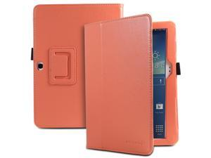 Fosmon OPUS Series Folding Leather Case with Stand, Stylus and Sleep/Wake Function for Samsung Galaxy Tab 3 10.1 Tablet (Coral)
