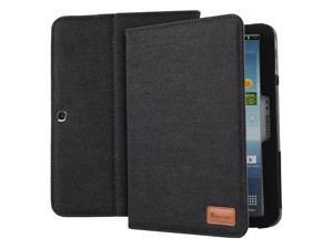 GreatShield Vantage Denim Fabric Case with Stand & Sleep Wake Function for Samsung Galaxy Tab 3 10.1 - Black