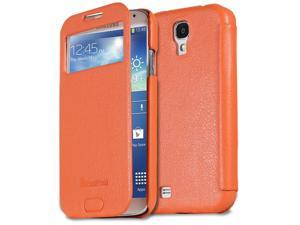 GreatShield SHIFT LX Slim Leather Flip Cover Case for Samsung Galaxy S4 / I9500 (Orange)