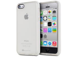 GreatShield Guardian Series Frosted TPU + PC Frame Case for Apple iPhone 5c - Translucent / White