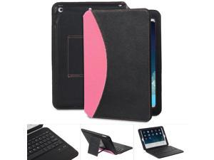 GreatShield LEAN Series Apple iPad Air Ultra Thin Keyboard Leather Case for New 2013 Apple iPad Air - Black/Pink