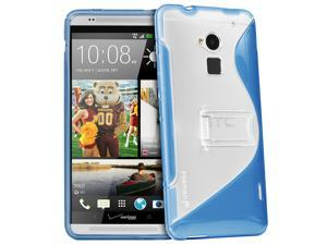 Fosmon HYBO-SK Hybrid PC + TPU Dual Layer Case Cover with Kick Stand for HTC One Max / HTC T6