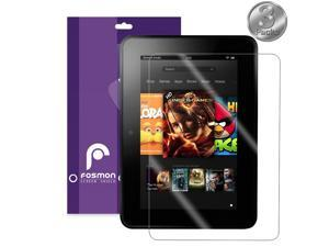 """Fosmon Clear Screen Protector for Kindle Fire HD 7"""" Tablet 2nd Gen 2013 - 3 Pack"""