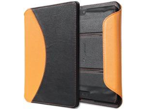 "GreatShield LEAN Series Slim-Fit Bluetooth Keyboard Case with Sleep / Wake Cover for Kindle Fire HDX 7"" - Black/Orange"