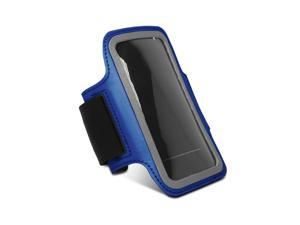 Fosmon Apple iPhone 5 / 5S / 5C (FORCE Series) Sport Fitness Gym Jogging Sweat Resistant Neoprene with Adjustable Strap Armband - Blue