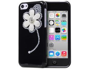 Fosmon GEM-FLAX Series 3D Bling Flower Design Case for Apple iPhone 5C