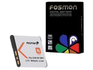 Fosmon NP-BN1 Extended Life Replacement Battery Pack for Sony Digital Cameras & Camcorders - 3.7 V / 900 mAh