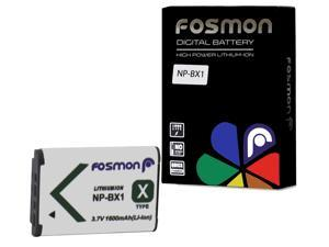 Fosmon NP-BX1 / M8 Extended Life Replacement Battery Pack for Sony CyberShot Digital Cameras - 3.7 V / 1600 mAh
