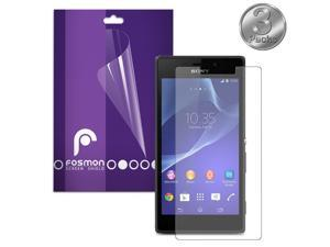 Fosmon Anti-Glare (Matte) Screen Protector Shield for Sony Xperia M2 / D2306 - Retail Packaging (3 Pack)