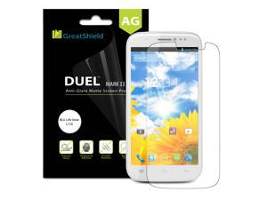 GreatShield DUEL Mark II Anti-Glare (Matte) Screen Protector for BLU Life View L110 with Lifetime Warranty (Retail Packaging) - 3 Pack