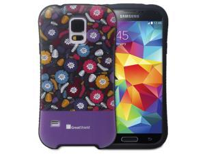 GreatShield ARCH Misty Flora Design Hybrid Case Hard Shell Cover for Samsung Galaxy S5 - Retail Packaging