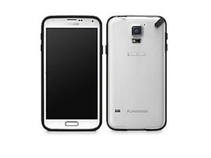 PureGear Slim Shell Case for Samsung Galaxy S5 - Retail Packaging (Clear/Black)