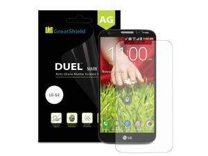 GreatShield DUEL Mark II Anti-Glare (Matte) Screen Protector with Lifetime Replacement Warranty for LG G2 Mini / LG-D620 - Retail Packaging (3 Pack)