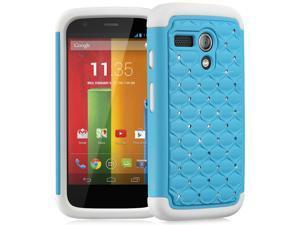 Fosmon HYBO-SD Series Hybrid Bumper Diamond Bling Case for Motorola Moto G / Motorola DVX - Retail Packaging