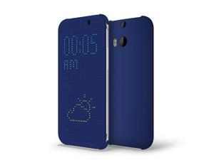 HTC Dot View Case for HTC One (M8) - Imperial Blue