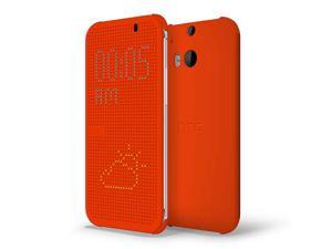 HTC Dot View Case for HTC One (M8) - Orange Popsicle