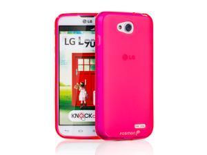 Fosmon DURA-FRO Flexible TPU Slim Fit Matte Case for LG Optimus L90 / LG D415 -Hot Pink