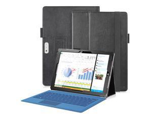 Fosmon OPUS PU Leather Folio Stand Case for MicrosoftSurface Pro 3 - Black