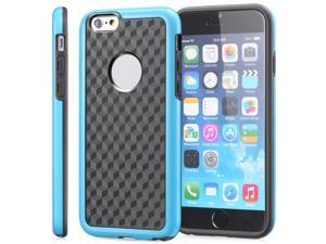 "Fosmon DURA-HOLOGRAM Stereoscopic Wall 2-in-1 (TPU+PC) Case for Apple iPhone 6 4.7"" - Blue (PC)/Black (TPU)"
