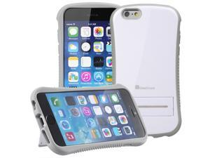 """GreatShield GUARDIAN (PC + TPU) Hybrid Case withKickstand for Apple iPhone 6 4.7"""" - White/Gray"""