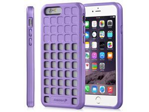"""Fosmon DURA-SQUIRCLE TPU Case for Apple iPhone 6 Plus/6s Plus (5.5"""") - Purple"""