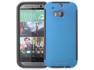 Fosmon HYBO-SNAP Durable Full Body Protection Hybrid Case with Built-In Screen Protector for HTC One (M8) 2014 - Retail Packaging