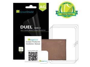 GreatShield DUEL Mark II Anti-Glare (Matte) Screen Protector with Lifetime Replacement Warranty for Samsung Galaxy Tab 4 10.1 - Retail Packaging (3 Pack)