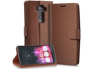 Vena vSuit Draw Bench PU Leather Wallet Flip Stand Casewith Card Pockets and Sleep/Wake function for LG G Flex 2- Brown