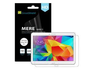 GreatShield MERE Mark II Clear (HD) Screen Protector with Lifetime Replacement Warranty for Samsung Galaxy Tab 4 10.1 Tablet - Retail Packaging (3 Pack)