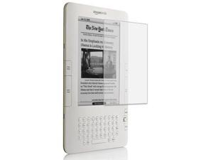 Clear Semi-transparent Amazon Kindle 2 E-Book Reader Silicone Rubber Skin Case + Kindle2 Anti Scratch LCD Screen Protector