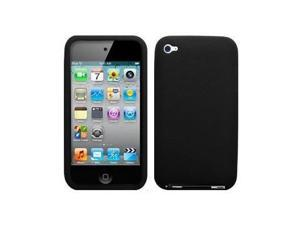 Black Soft Silicone Skin Case for Apple iPod touch 4th Gen