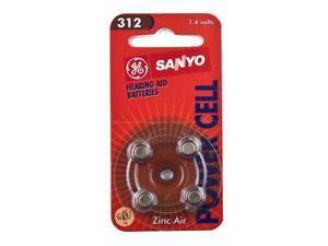 New Sanyo Hearing Aid Battery 312 4pk