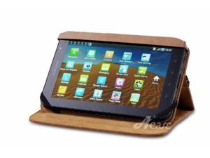 Acase Vintage Acme Brown Leather Case with Stand for Samsung Galaxy Tab P1000 WiFi 3G