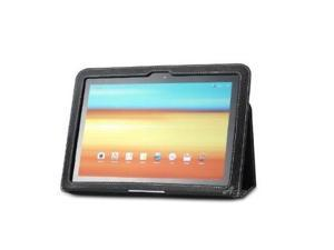 Acase (TM) Samsung GALAXY Tab 10.1 100% Genuine Leather EZ Carry Case with 3 in 1 built in Stand for Samsung GALAXY Tab 10.1 Wi-Fi ONLY (BLACK)