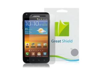 GreatShield Ultra Smooth Clear Screen Protector Film With (Lifetime Warranty) for Sprint Samsung Galaxy S ll S2, Epic 4G Touch - 3 Pack