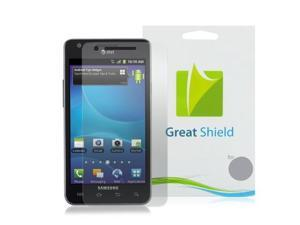 GreatShield Ultra Smooth Clear Screen Protector Film for AT&T Samsung Galaxy S ll S2, Attain (3 Pack)