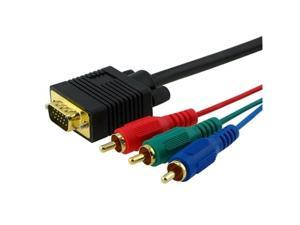 Fosmon 6ft VGA Male to 3-RCA Component Video Male cable